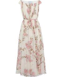 Giambattista Valli Floral Silk Georgette Maxi Dress - Natural