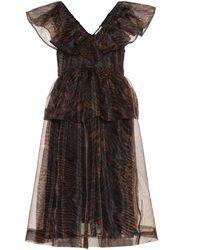 Ganni Robe imprimée en organza - Noir