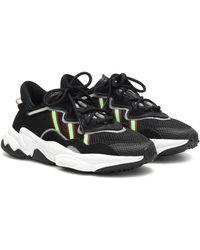 adidas Sneakers Ozweego in mesh e pelle - Nero