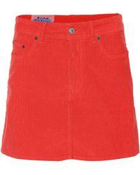 Acne Studios - Blå Konst Corduroy Miniskirt - Lyst