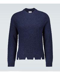 Maison Margiela Pull Peeled en laine - Bleu