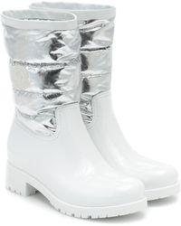 Moncler Women's Gisele Rain Boots - Metallic