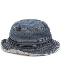 Ganni Hut aus Denim - Blau