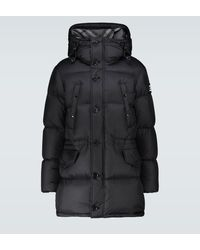Burberry Doudoune à capuche avec logo - Noir