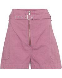 Étoile Isabel Marant Shorts Parana aus Baumwolle und Leinen - Pink