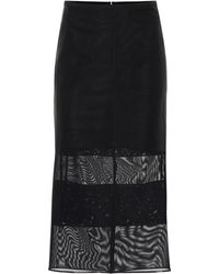 Mugler - Mesh Pencil Skirt - Lyst