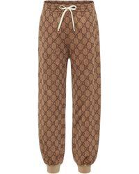 Gucci Pantalones de chándal GG de algodón - Multicolor