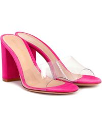 Gianvito Rossi Exclusive To Mytheresa – Vivienne 85 Suede Sandals - Pink