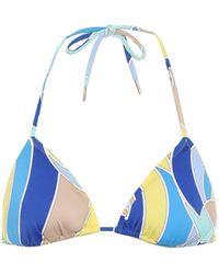 Emilio Pucci Printed Bikini Top - Blue