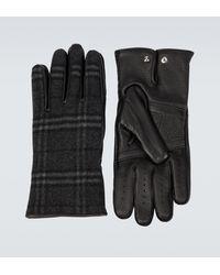 Burberry Handschuhe aus Wolle und Kaschmir - Mettallic