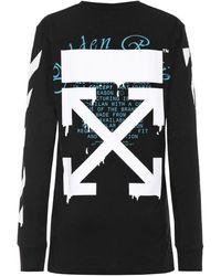 Off-White c/o Virgil Abloh Camisa de punto fino de algodón - Negro
