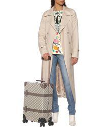 Gucci Maleta Mediana con GG Globe-Trotter - Neutro