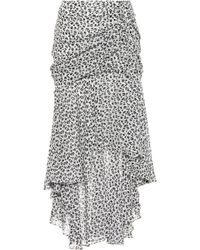 Veronica Beard Floral-printed Silk Skirt - White
