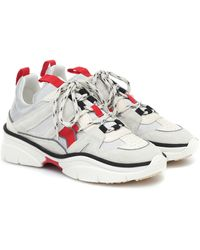 Isabel Marant Kindsay Suede Sneakers - Gray
