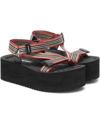 Burberry Icon Stripe Platform Sandals - Multicolour