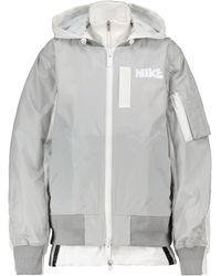Nike X sacai Bomberjacke - Grau