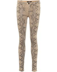 7 For All Mankind Mid-Rise Cropped Jeans The Skinny - Natur