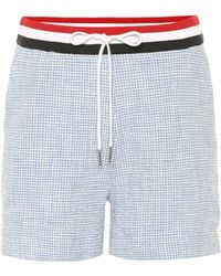 Thom Browne Tweed Shorts - Blue