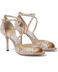Jimmy Choo Emsy 85 Glitter Sandals - Multicolour