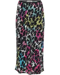 Diane von Furstenberg Falda midi Mae de crepé estampada - Multicolor