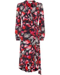 Diane von Furstenberg Carla Two Silk Crepe De Chine Wrap Dress - Multicolour
