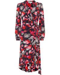 Diane von Furstenberg Bedrucktes Seidenkleid Carla Two - Mehrfarbig