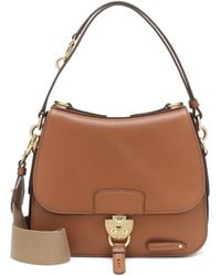 Miu Miu Medium Leather Satchel - Brown