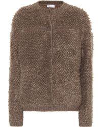 Brunello Cucinelli Cardigan in lana e mohair - Marrone