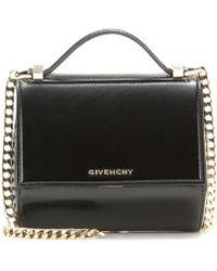 Givenchy Pandora Box Chain Patent Leather Shoulder Bag - Black