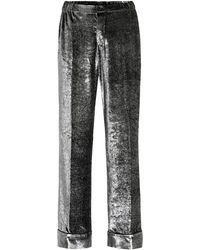 F.R.S For Restless Sleepers Pantaloni pigiama Etere in velluto - Metallizzato
