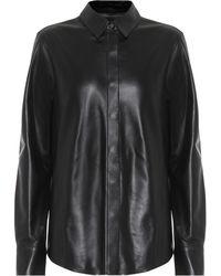 Zeynep Arcay Leather Shirt - Black