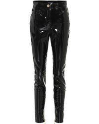 Balmain - Pantalones skinny de vinilo - Lyst