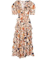 Ulla Johnson Aurora Floral Cotton Midi Dress - Multicolour