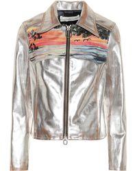 Golden Goose Deluxe Brand - Mira Metallic Leather Jacket - Lyst