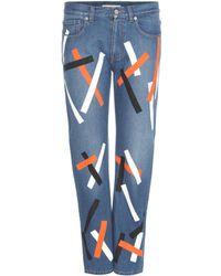 Christopher Kane | Embellished Cropped Denim Jeans | Lyst
