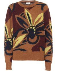 Dries Van Noten Floral Alpaca-blend Sweater - Multicolour