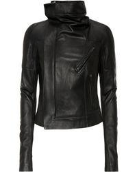 Rick Owens - Sisy Leather Biker Jacket - Lyst