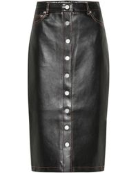 Proenza Schouler Faux Leather Pencil Skirt - Black
