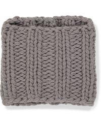 JW Anderson Cuello de lana de punto trenzado - Gris