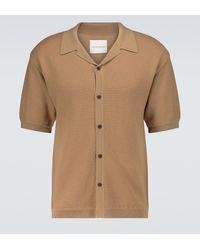 King & Tuckfield Knitted Camp-collar Shirt - Natural