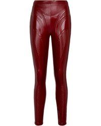 Mugler Embossed leggings - Red