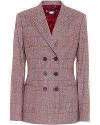 Stella McCartney Double-breasted Wool-blend Blazer - Gray