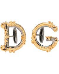 Dolce & Gabbana Logo Cuff Links - Metallic