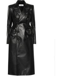 Balenciaga Leather Coat - Black