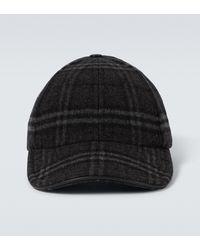 Burberry Baseballcap aus Wolle und Kaschmir - Grau