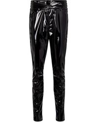 RTA Pantalones skinny Kyle de látex - Negro