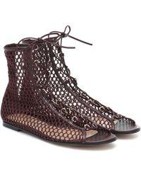 Gianvito Rossi Helena Leather-trimmed Sandals - Multicolour