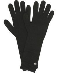 The Row Afef Cashmere Gloves - Black