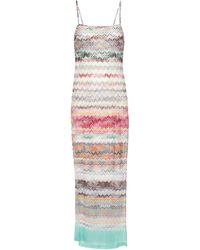 Missoni Robe longue en mailles zigzag - Multicolore