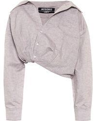 Jacquemus Camisa Mejean de lino y algodón - Morado